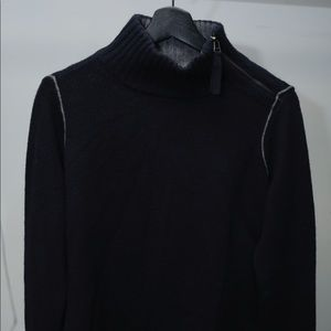Navy Vince. Sweater with Side Neck Zip